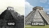 7 знаменитых строений мира: как они выглядели до того как стали известны всему человечеству и их вид сейчас
