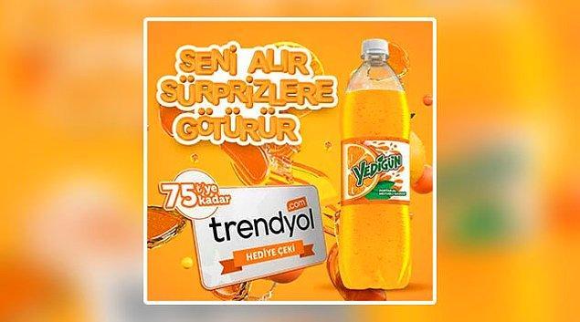 8. Yedigün kazandırıyor. Son 2 gün ama boş yok. Sen neden şansını denemeyesin ki? Türkiye sınırları içerisinde satılan 1 litrelik Yedigün şişeleri kampanyaya dahildir.