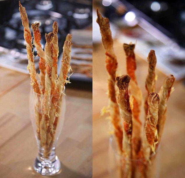 7. Parmesanlı milföy çubukları