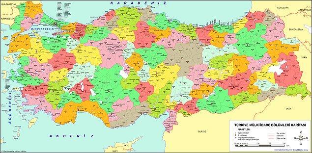 7. Biraz da coğrafya! Türkiye'nin coğrafi koordinatları nedir?