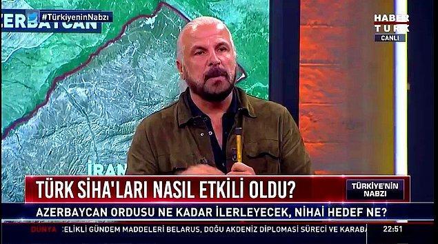 """Bugün ise, Stratejist Mete Yarar, harita üzerinde durumu anlatırken, arka planda 'Yayını kesin, yayını kesin"""" sesleri duyuldu."""