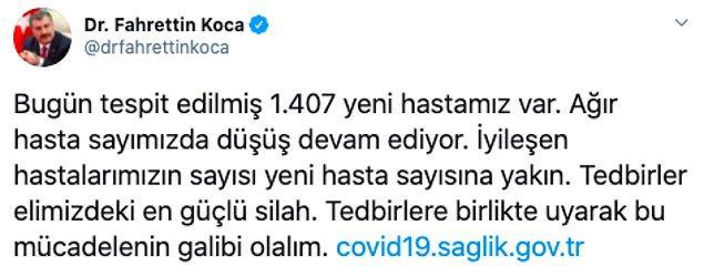 Fahrettin Koca'nın bugün yaptığı açıklamadan sonra ise insanlardan 'pozitif vaka sayımız kaç?' soruları yükselirken,