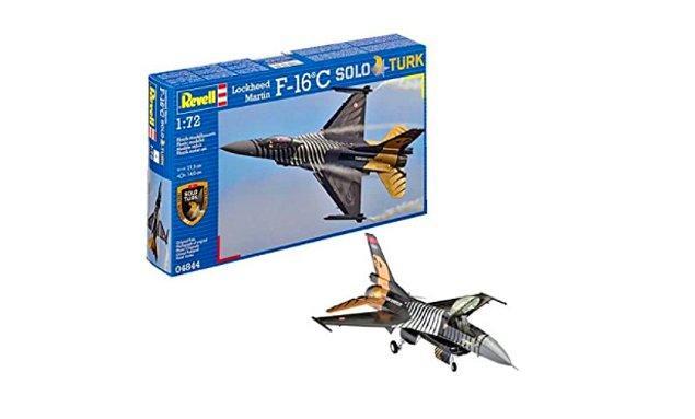4. Solo Türk uçuşlarını gerçekleştiren bu  tek kişilik F-16 C Blok-40 uçağını kendi ellerinizle yapıp odanızda sergileyebilirsiniz.