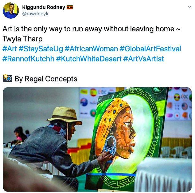 """13. """"Sanat evden çıkmadan kaçmanın tek yoludur. Twyla Tharp"""""""