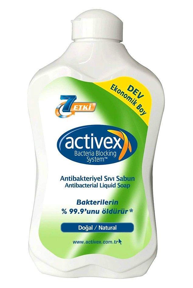 19. Test edilmiş bakterilerin %99,9'unu yok eden Activex'in büyük boyunu alın, uzun süre kullanın.