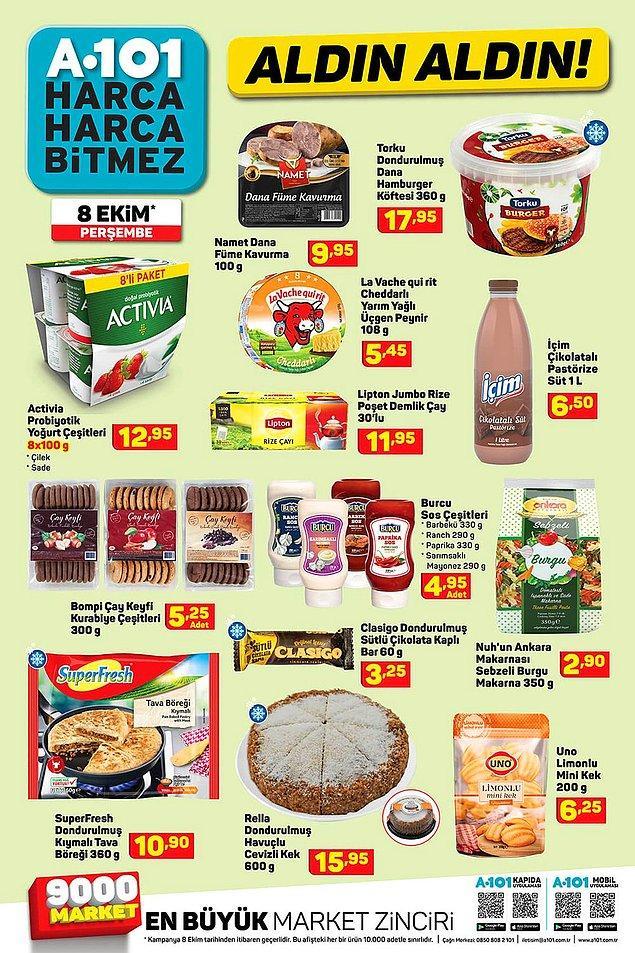 Şarküteri ürünleri kataloğu da yine çeşitli.