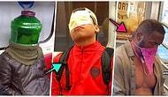 23 самых нелепых масок от короны, которые были замечены в метро