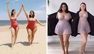 Две подруги показывают, как выглядят одинаковые вещи на разных типах телосложения (30 новых фото)