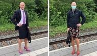Отец троих детей каждый день ходит на работу в юбке и на высоких каблуках