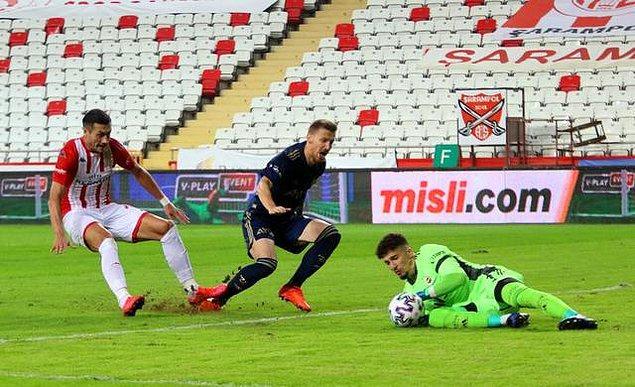 45. dakikada Jahovic, Serdar Aziz'e yaptığı faul nedeniyle kırmızı kart gördü.