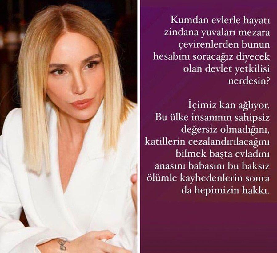 Ünlü Şarkıcı Gülşen, İzmir Depreminin Ardından Yıkılan Binaların  Sorumlularına ve Devlet Yetkililerine İsyan Etti - onedio.com