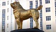 Президент Туркмении Гурбангулы Бердымухамедов поставил золотой памятник собаке в центра Ашхабада