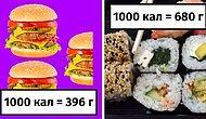 Как выглядят 1000 калорий в разных продуктах (23 фото)