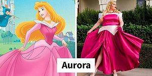 16 моделей большого размера в костюмах Диснеевских принцесс