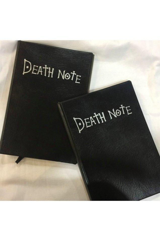 16. Death Note animesini izlemeye doyamayanlar bu deftere bayılacak.