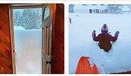 В Бингемтоне недалеко от Нью-Йорка выпал снежок под Рождество...вернее целая тонная снега! (28 фото)