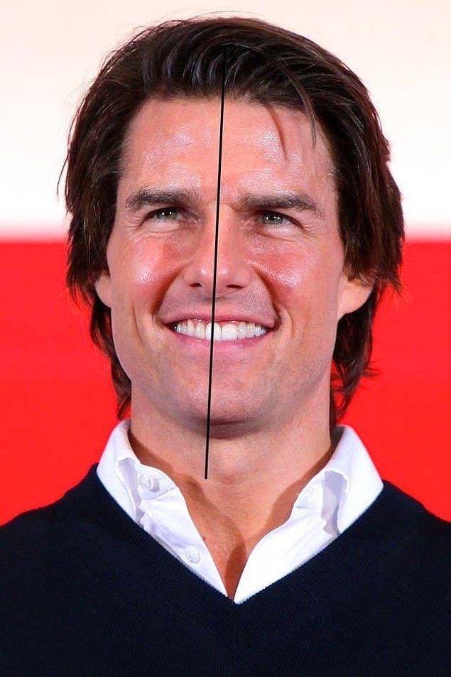 26. Tom Cruise'un yüzü asimetriktir.
