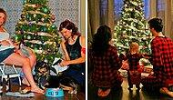 Каждый год семейка инсценирует собственные забавные новогодние открытки, и это выглядит великолепно!