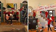 """7 лет назад эта семья начала делать """"жизненные"""" новогодние открытки, и они становятся все безумнее по мере взросления детей"""