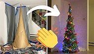 Как сделать нетрадиционную рождественскую елку из клея, кукурузного крахмала и пряжи