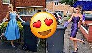 В течение 20 недель в Англии женщина выходила выносить мусор в шикарных платьях, чтобы подбодрить соседей (и даже собрала немного денег)