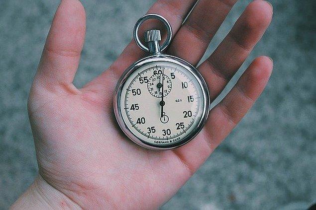 8. Beş dakikayı geçmeyin