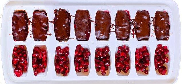 Meyveli çikolata için de ideal