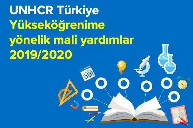 Ayrıca UNHCR Türkiye'deki bir üniversite ya da yükseköğretim kurumunda öğrenim gören bir uluslararası koruma başvuru veya statü sahibi öğrencilere de nakit yardımında bulunuyor.