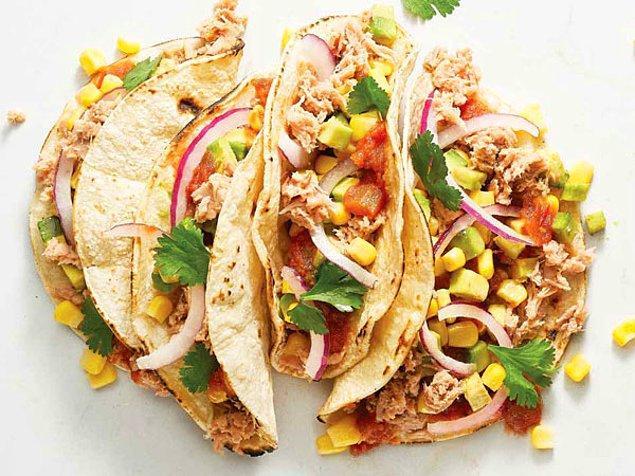 1. Ton Balıklı Taco Tarifi: