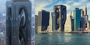 Турецкие архитекторы создали необычный дизайн небоскреба в Нью-Йорке высотой 209 метров стиле космической эры