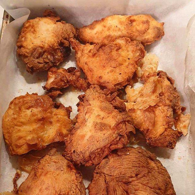 7. KFC Tadında Acılı Tavuk