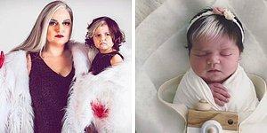 Девочка родилась с белой прядью на волосах, и ее мама помогает ей принять свою уникальность