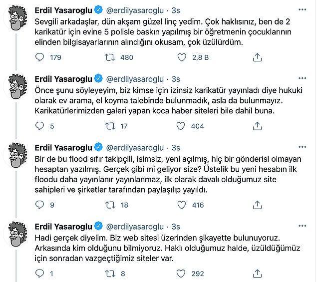 İddiaların ardından ünlü karikatürist bu tweetleri atanın fake olduğunu söyledi.