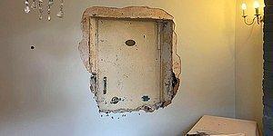 """Владелец """"дома с приведениями"""" говорит, что призраки помогли ему найти секретную дверь хранилища, спрятанную внутри стен"""