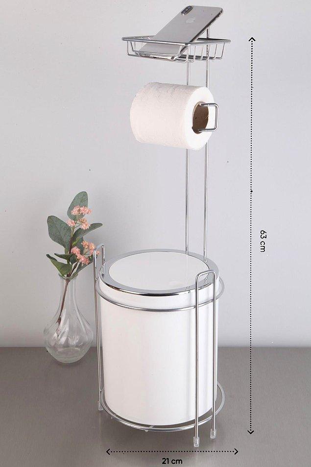 11. Tuvalete de telefonla gidenlerin evlerinde olan bir WC kağıtlığı.