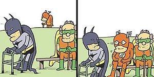 Художник показывает не очень гламурную повседневную жизнь супергероев из DC комиксов (20 картинок)