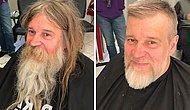 Парикмахер бесплатно подстриг бездомного, и выяснилось, что под волосами и бородой прячется настоящий красавчик
