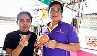 Водитель грузовика в Тайланде нашел редкую жемчужину Мело в морской улитке, которую купил на рынке для семейного обеда