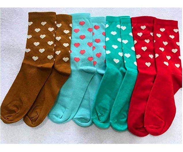 12. Bu kalp desenli çorapları çok seveceksiniz.