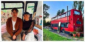 Британская пара отказывается втягивать себя в ипотеку и своими руками превращает двухэтажный автобус в уютный дом (17 фото)