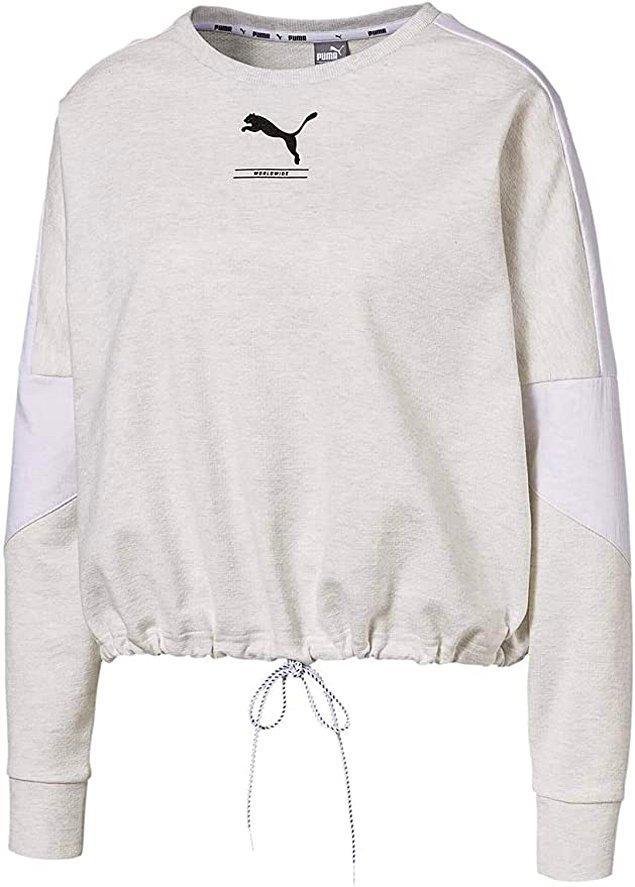 10. Puma'nın bu sweatshirtü çok güzel görünüyor.