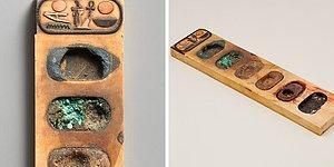 3400-летняя палитра для живописи с остатками пигментов из Древнего Египта очаровывает Интернет
