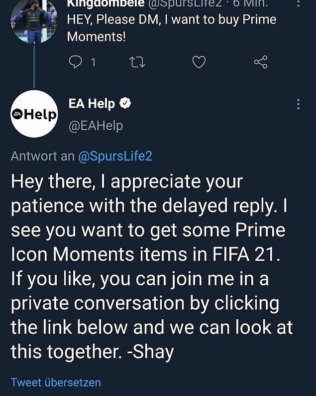 EA, kendi hesabından kendini ifşa etti.
