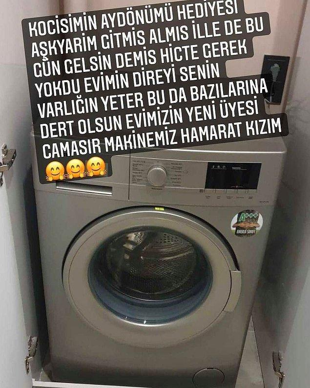 10. Bir insanın çamaşır makinesi olması niye birilerine dert olsun ki?
