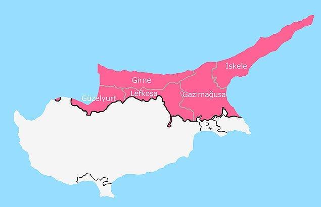 3. Kuzey Kıbrıs'ta şehir kavramı yok, şehir yerine ilçe kullanılıyor.