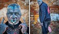 72-летний пенсионер из Германии покрыл 98% своего тела татуировками, оставив только ступни