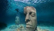 Новый увлекательный подводный музей у побережья Канн предлагает посмотреть на гигантские 10-тонные скульптуры головы
