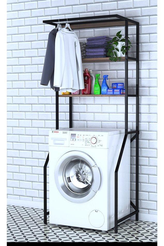 1. Çamaşır makinesi üstü raf dolaplar