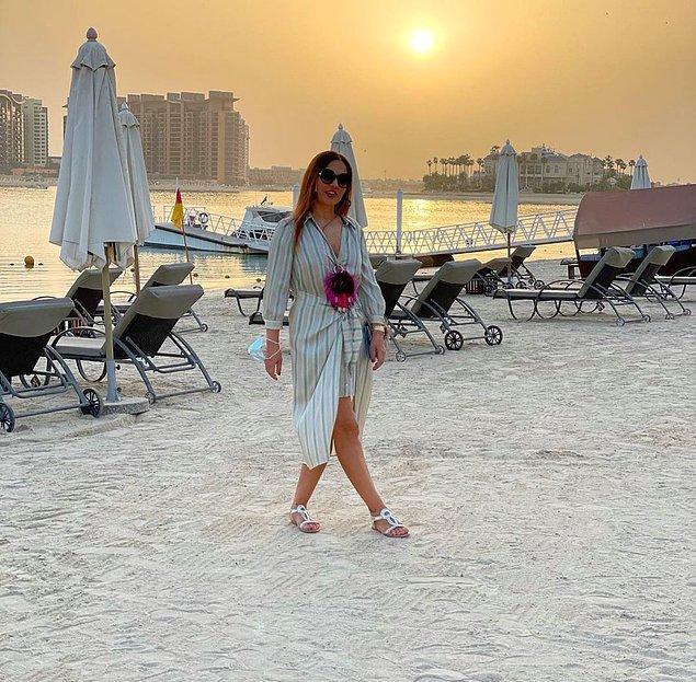 17. 'Geçinemiyorum' diyen Demet Akalın, Dubai tatiline çıktı.