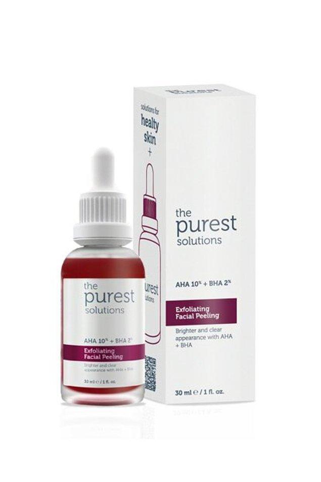 3. The Purest Solutions- Canlandırıcı ve cilt tonu eşitleyici yüz peeling serum